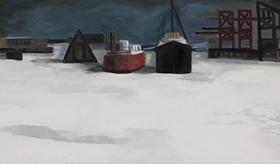 CLAUDE PICHER Quebec Harbour in Winter Oil on canvas