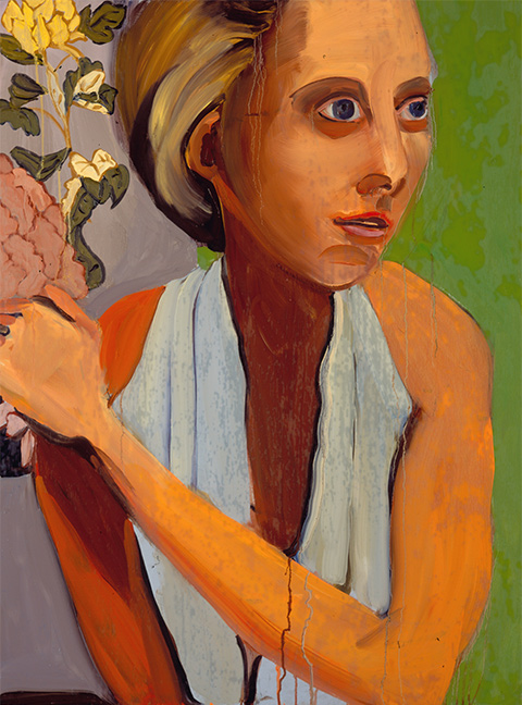 CHANTAL JOFFE Woman in a Grecian Dress Oil on board